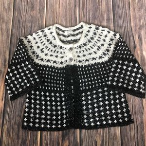 Black and white Christopher & Banks Sweater-size L